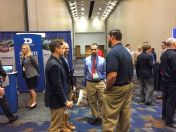 Aviation students networking at the conference