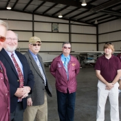 EKU Aviation Director Ralph Gibbs with guests and faculty