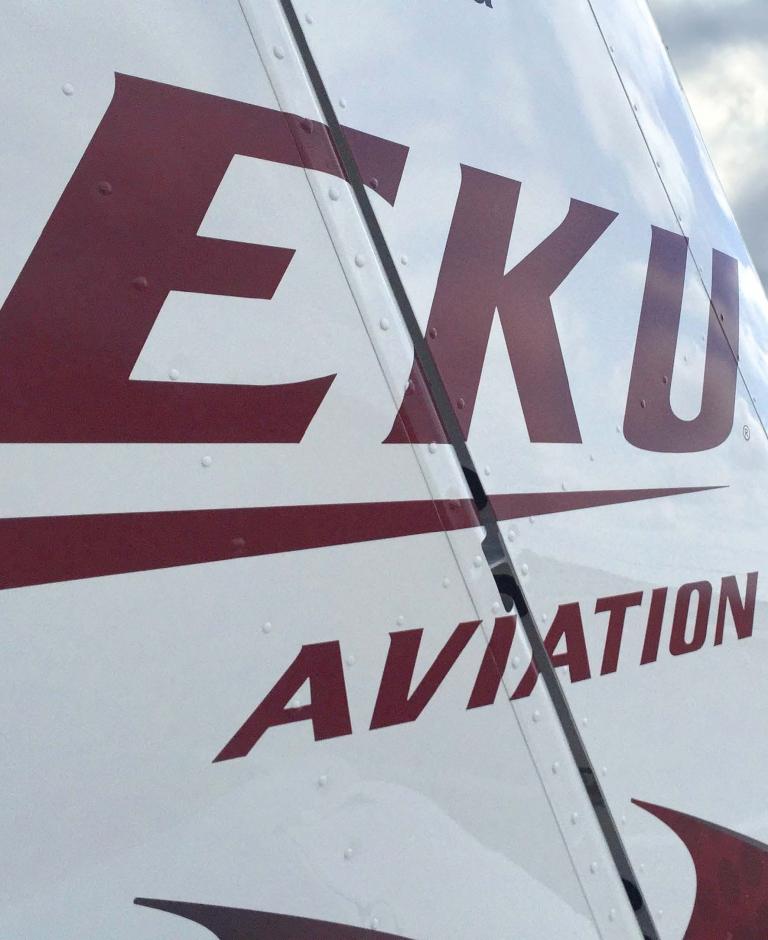 EKU aircraft tailfin graphic