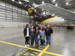 EKU Aviatoin students at UPS facilities
