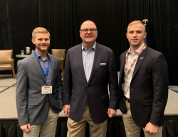 (L-R) Adam Ackermann, Todd Hauptli, AAAE President and CEO, and Dustin Haubner