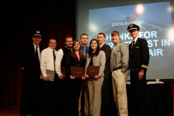 Endeavor Air officers and EKU Aviation award recipients