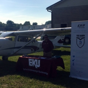 EKU Aviation representative with Top Hawk Cessna in Hendersonville