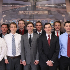 EKU flight students on interview day